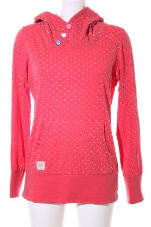 Ragwear Kapuzensweatshirt rot-weiß Punktemuster Casual-Look