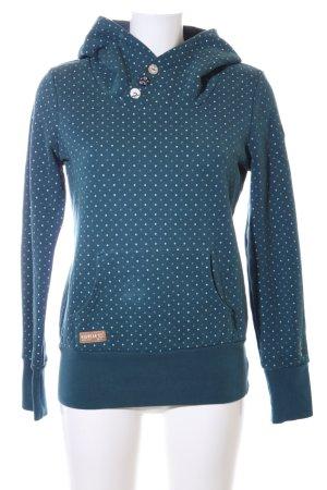 Ragwear Kapuzensweatshirt blau Punktemuster Casual-Look