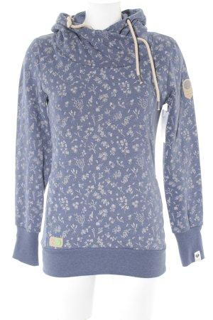 Ragwear Kapuzensweatshirt graublau-hellgrau Blumenmuster Skater-Look