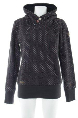 Ragwear Kapuzensweatshirt Punktemuster Casual-Look