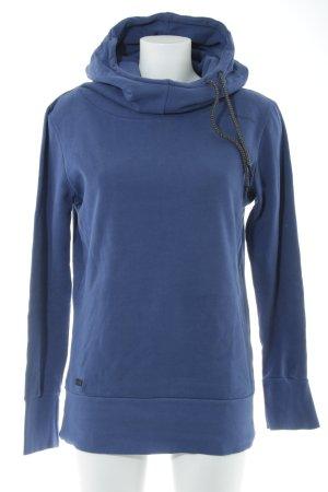Ragwear Kapuzensweatshirt stahlblau Schriftzug gedruckt Casual-Look