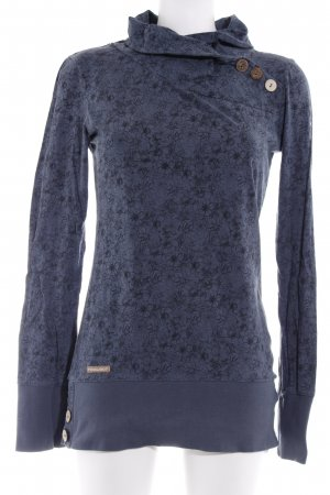 Ragwear Longpullover kadettblau florales Muster sportlicher Stil