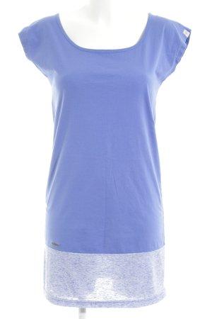 Ragwear Longshirt blau meliert Casual-Look