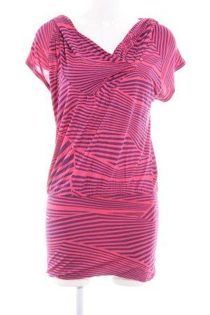 Ragwear Longshirt neonrot-dunkelviolett abstraktes Muster Casual-Look