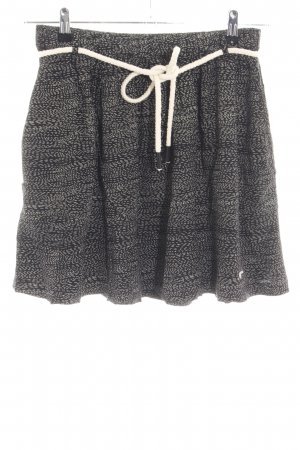 Ragwear Minirock schwarz-weiß Allover-Druck Casual-Look