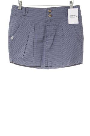 Ragwear Mini-jupe bleu acier-bleu foncé motif rayé style décontracté