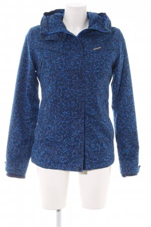 Ragwear Outdoorjacke blau Allover-Druck sportlicher Stil
