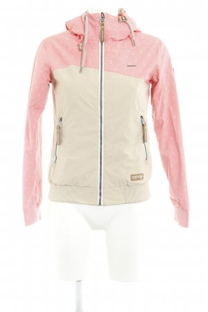 Ragwear Outdoor Jacket cream-salmon themed print athletic style