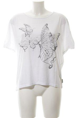 Ragwear Oversized Shirt weiß-hellgrau schlichter Stil