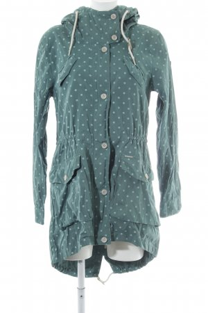 Ragwear Parka graugrün-khaki Punktemuster Casual-Look