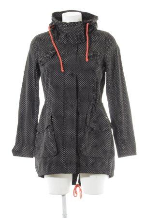 Ragwear Regenjacke schwarz Punktemuster Casual-Look