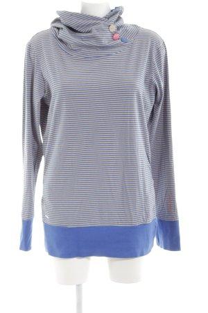 Ragwear Sweatshirt blau-wollweiß Streifenmuster Casual-Look