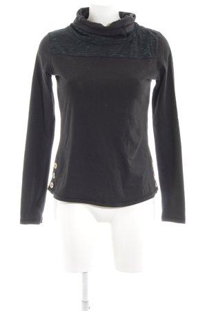 Ragwear Colshirt zwart casual uitstraling