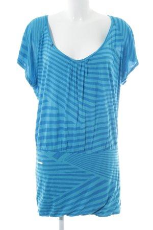 Ragwear Shirtkleid babyblau-kornblumenblau Streifenmuster Casual-Look