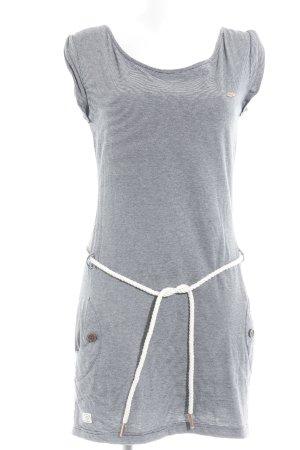 Ragwear Shirtkleid dunkelblau-weiß Streifenmuster Beach-Look