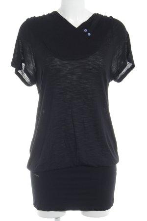 Ragwear Stretchkleid schwarz sportlicher Stil