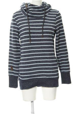 Ragwear Sweatshirt dunkelblau-babyblau Streifenmuster Casual-Look