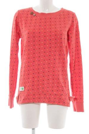 Ragwear Sweatshirt lachs Punktemuster Casual-Look