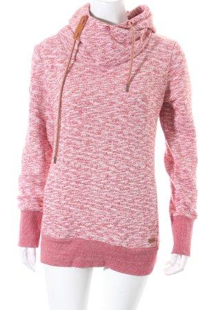 Ragwear Sweatshirt weiß-rot meliert sportlicher Stil