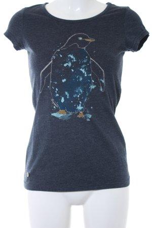 Ragwear T-Shirt dunkelblau meliert Casual-Look