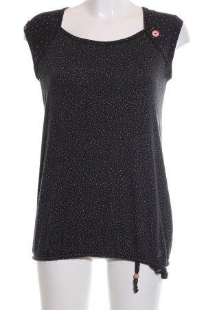 Ragwear T-Shirt schwarz-pink Allover-Druck Casual-Look