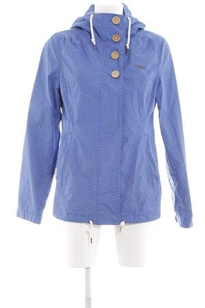 Ragwear Übergangsjacke blau Punktemuster Casual-Look