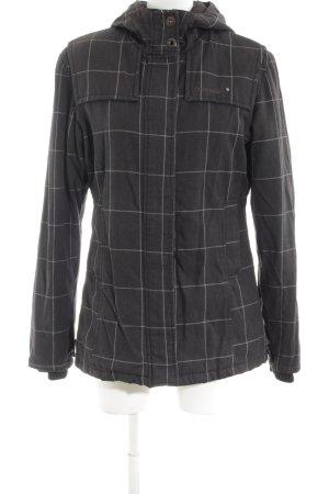 Ragwear Übergangsjacke schwarz-weiß Karomuster Casual-Look