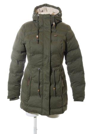 Ragwear Wintermantel khaki Steppmuster Casual-Look