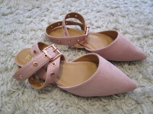 Strappy Ballerinas rose-gold-coloured