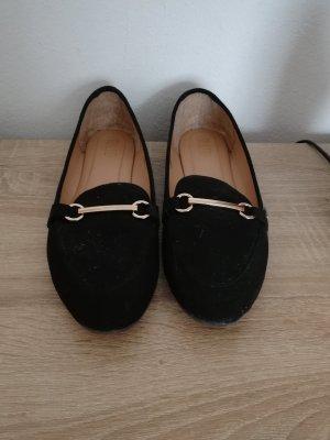 Zapatos formales sin cordones negro-color oro