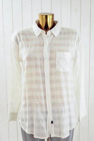 RAILS Damen Bluse Hemd Mod.Charly Weiß Struktur Baumwolle Rayon Leinen Gr.M