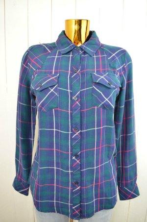RAILS Damen Hemd Bluse Karo Mod. KENDRA Navy Jade Dunkelblau Western Style Gr.XS