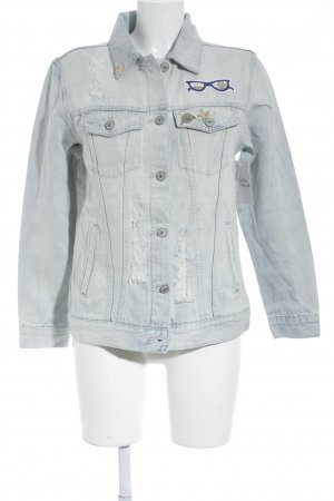 Rails Jeansjacke himmelblau Applikation