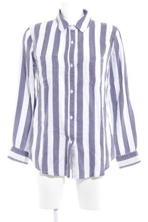Rails Langarm-Bluse weiß-grauviolett Streifenmuster Casual-Look