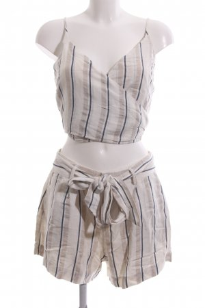 Rails Woven Twin Set oatmeal-dark blue striped pattern casual look