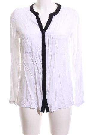 Rainbow Blusenjacke weiß-schwarz Casual-Look