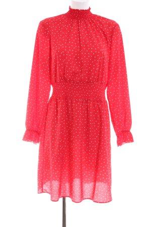 Rainbow Blusenkleid rot-weiß Punktemuster Casual-Look