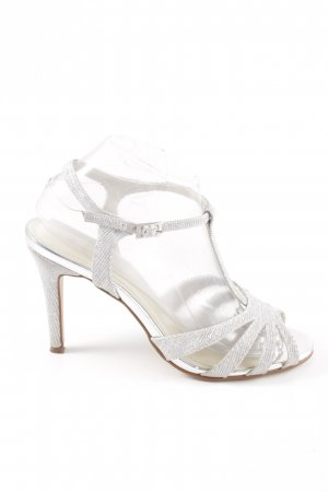 Rainbow Club Strapped Sandals silver-colored wet-look