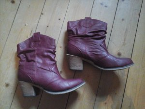 Rainbow Cowboy Western Boots Stiefel weinrot Gr. 40 Top