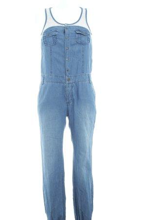 Rainbow Jumpsuit weiß-stahlblau Jeans-Optik