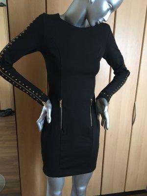 Rainbow Kleid schwarz mit Nieten und Reißverschlüssen Gr. 34