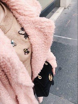 Rainbow Kunstfelljacke rosa Bloggerstyle weich kuschelig