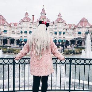 Rainbow Cappotto in eco pelliccia rosa