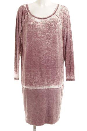 Rainbow Long Shirt grey lilac-mauve flecked casual look
