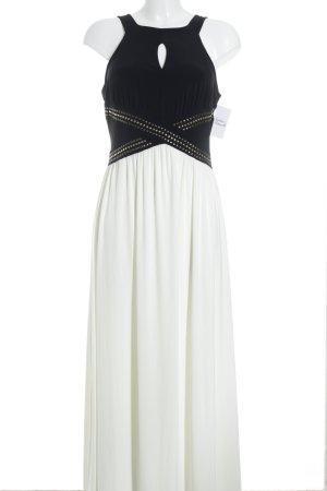 Rainbow Robe longue blanc cassé-noir élégant