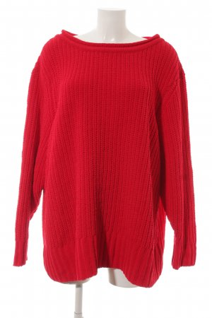 Rainbow Oversized Pullover rot Casual-Look