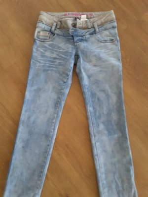 Rainbow Jeans slim fit azzurro