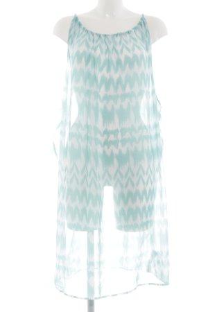 Rainbow Strandkleid türkis-weiß grafisches Muster Street-Fashion-Look
