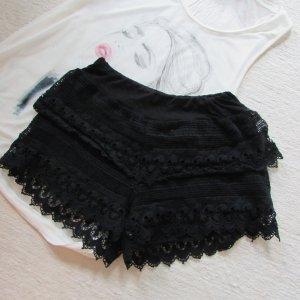 RAINBOW * Süße Spitzen Shorts Hotpants * schwarz Lace * S=36/38