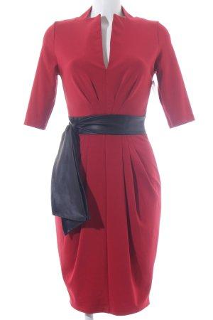 Rainbow Vestido de tela de sudadera rojo-negro elegante